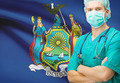 Surgeon with US state flag on background series - New York - PhotoDune Item for Sale