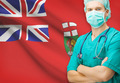 Surgeon with Canadian privinces flag on background series - Manitoba - PhotoDune Item for Sale