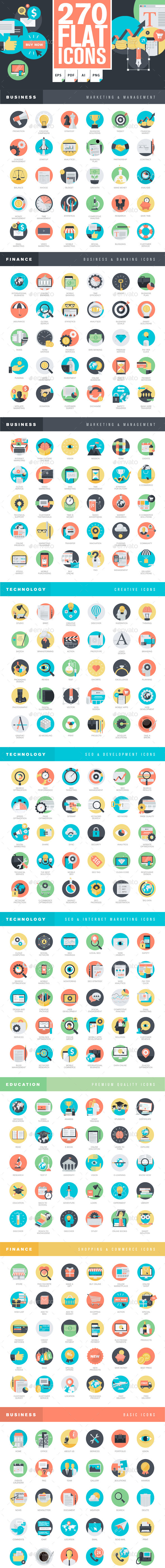 GraphicRiver Set of Flat Design Icons 11203539
