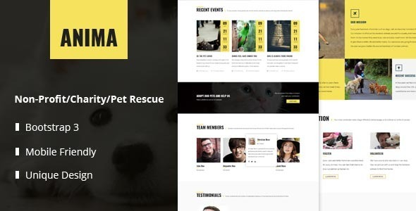 ThemeForest Anima Responsive Pet Rescue and Shelter Template 11172622