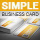 Simple and Clean Business Card - GraphicRiver Item for Sale