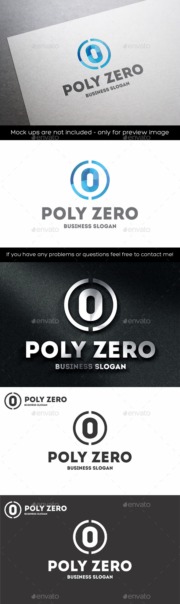 GraphicRiver Zero Number Polygonal Logo 11203676