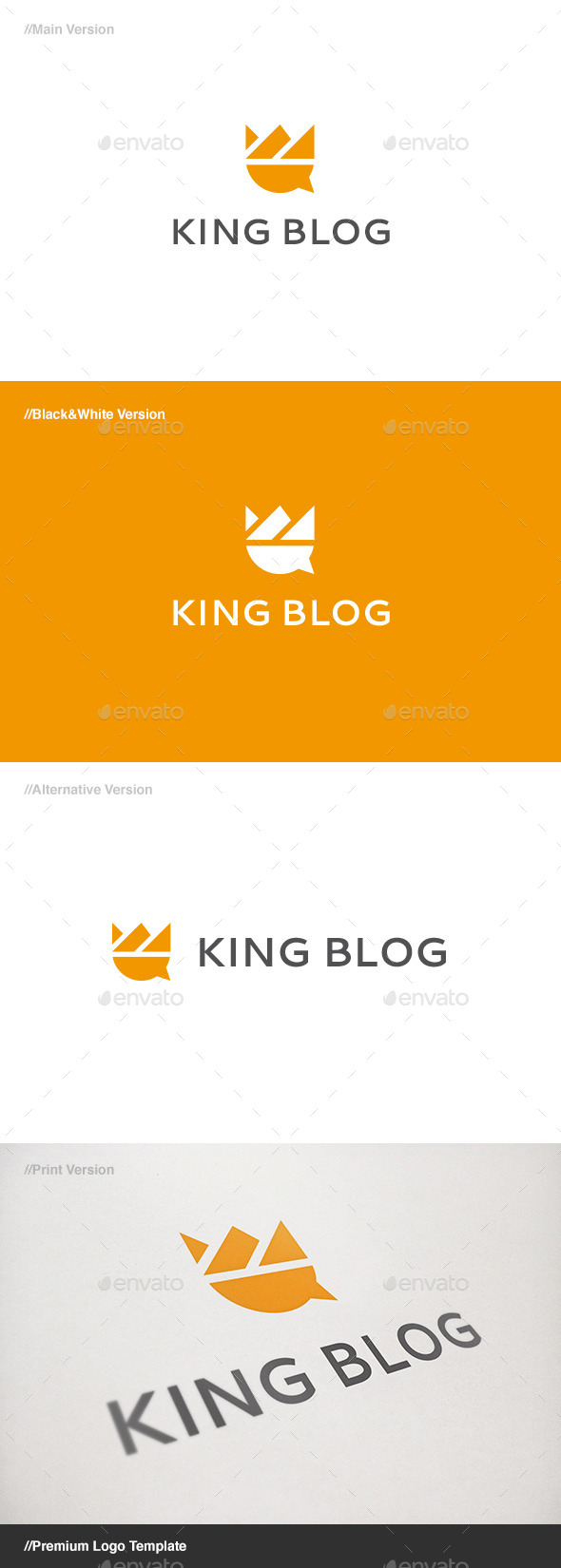 GraphicRiver King Blog Logo 11203765
