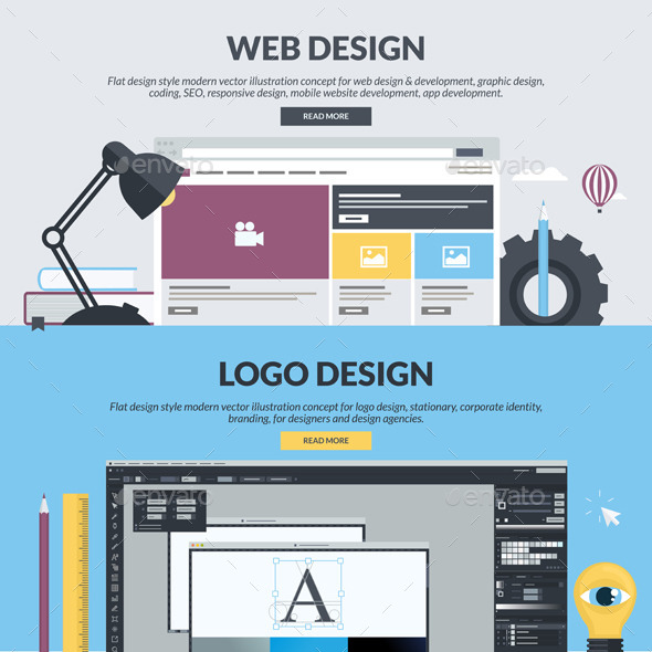 GraphicRiver Flat Design Banners for Graphic and Web Design 11204046