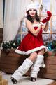 Woman wearing like Santa`s helper - PhotoDune Item for Sale