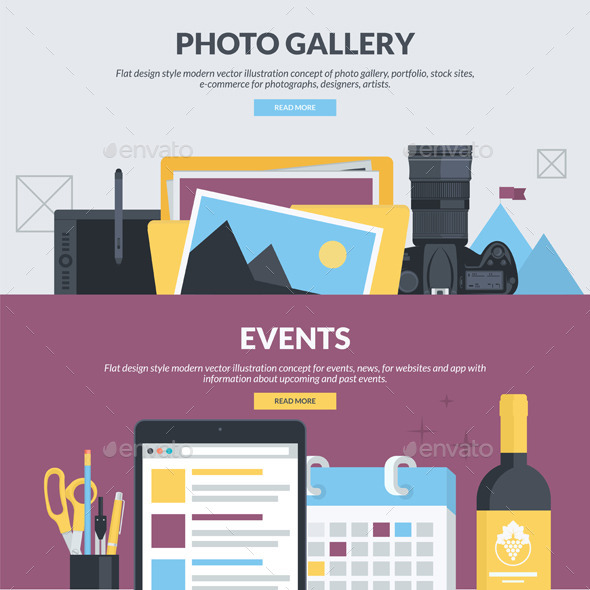 GraphicRiver Flat Design Banners for Photo Gallery and Events 11204148