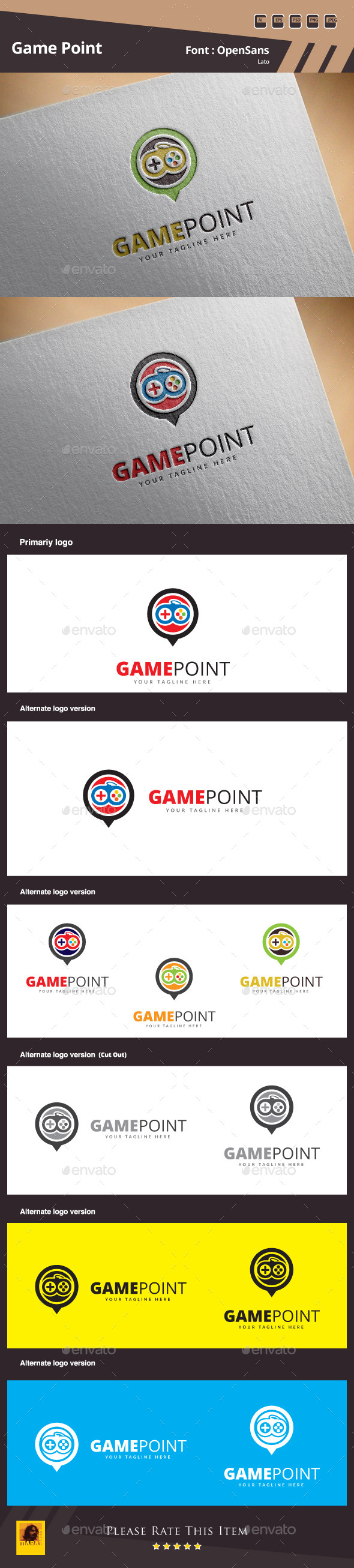 GraphicRiver Game Point Logo Template 11204153