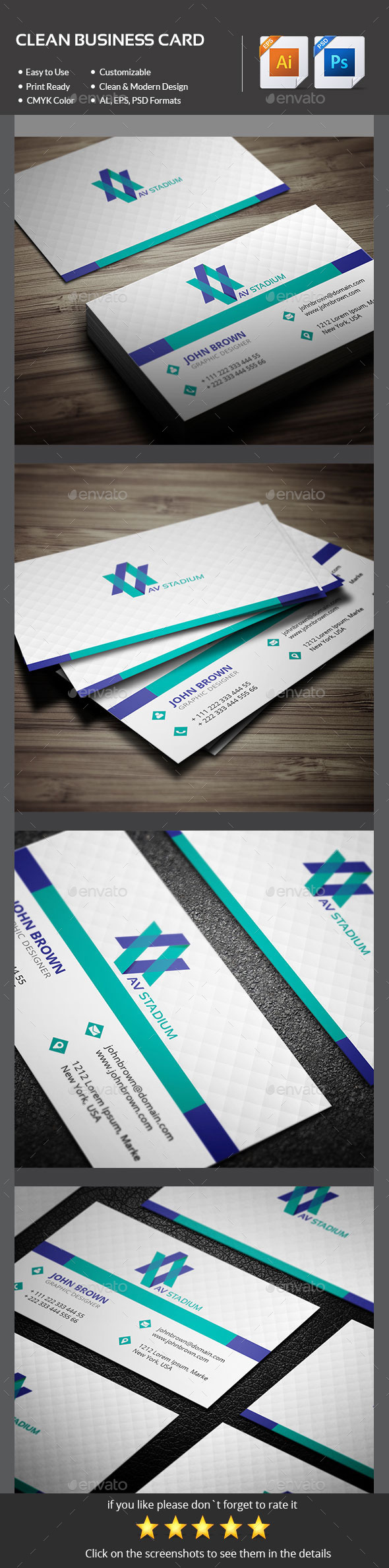 GraphicRiver Simple Business Card 11204444