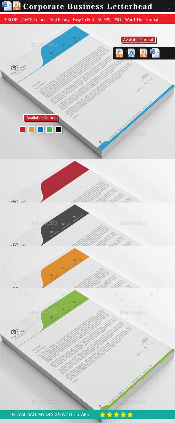 GraphicRiver Bes Letterheads 11204451