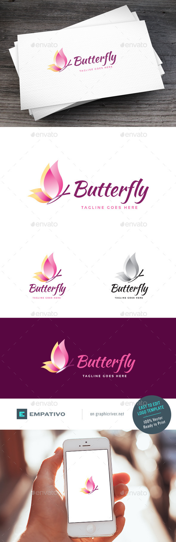 GraphicRiver Butterfly Logo Template 11204463