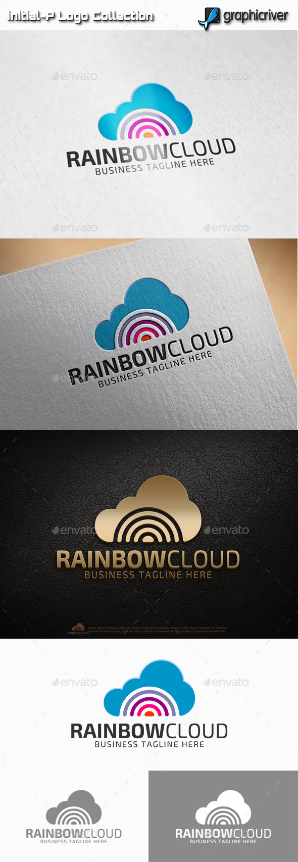 GraphicRiver Rainbow Cloud Logo 11204525