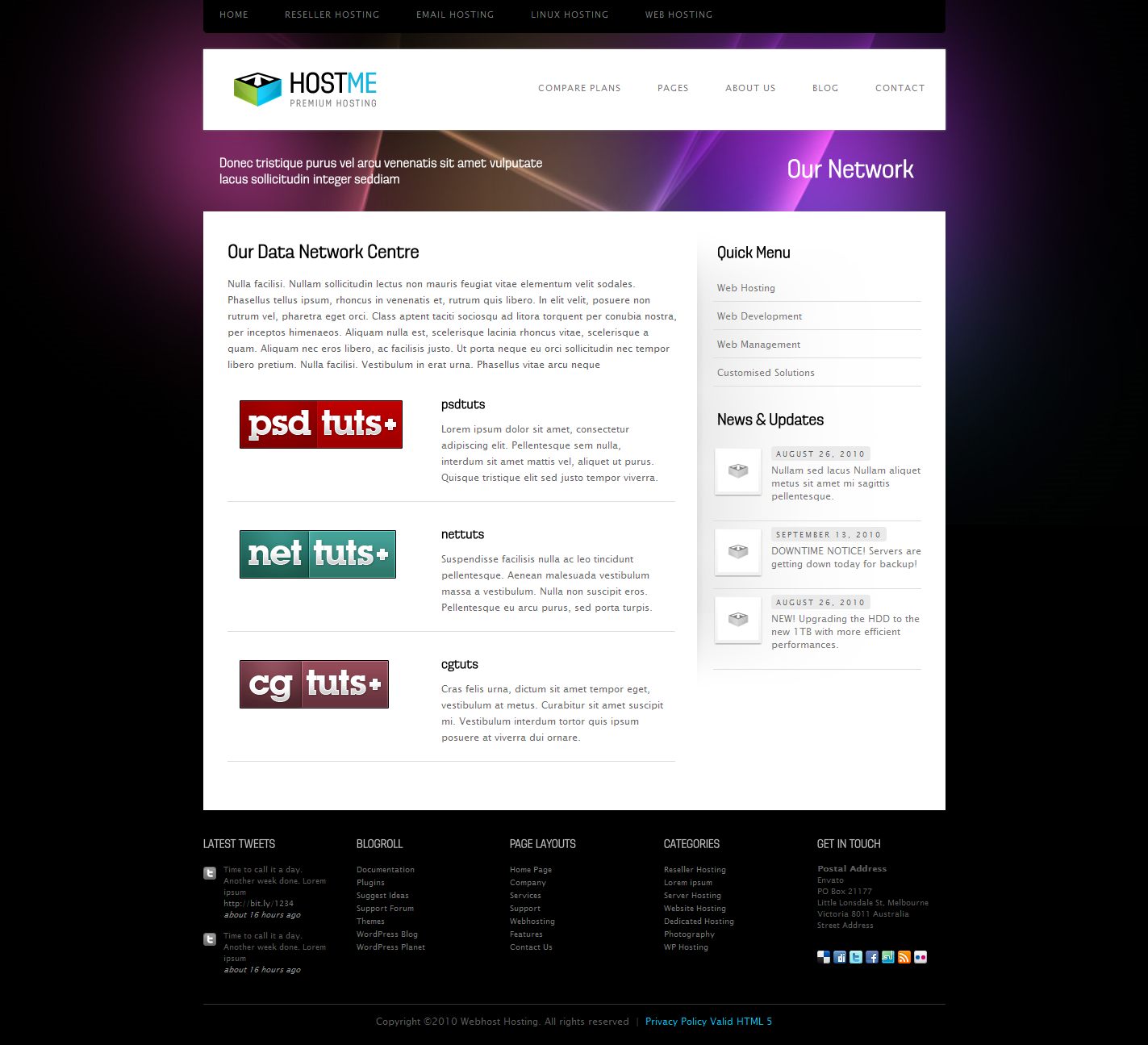 Hostme - Premium Hosting & Business Template