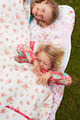 Two Girls Lying Under Blanket On Camping Holiday - PhotoDune Item for Sale
