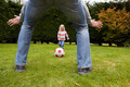 Father And Daughter Playing Football In Garden Together - PhotoDune Item for Sale