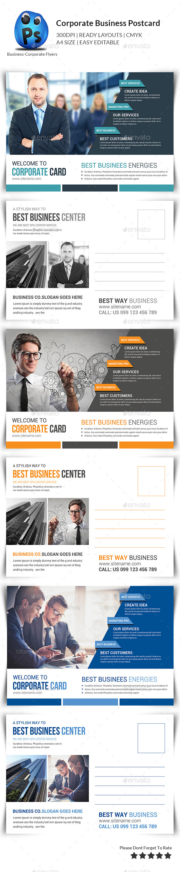 GraphicRiver Corporate Postcard Print Templates 11205749
