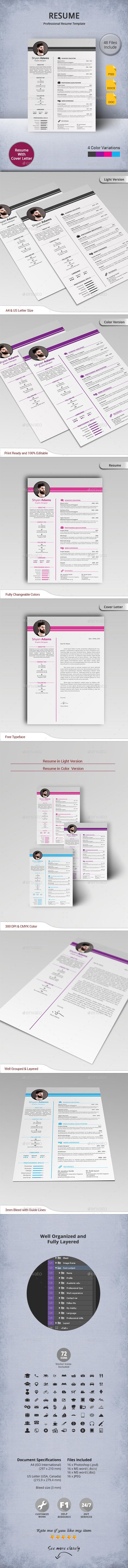 GraphicRiver Resume 11205856