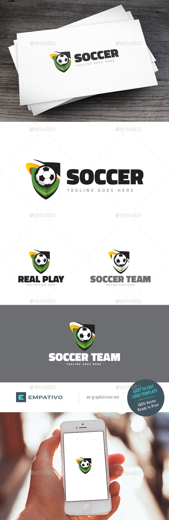 GraphicRiver Soccer Team Logo Template 11206016