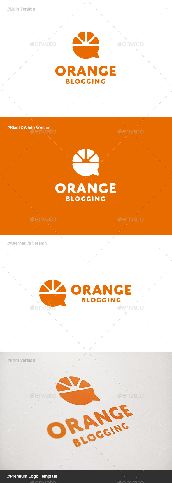 GraphicRiver Orange Blog Logo 11206025
