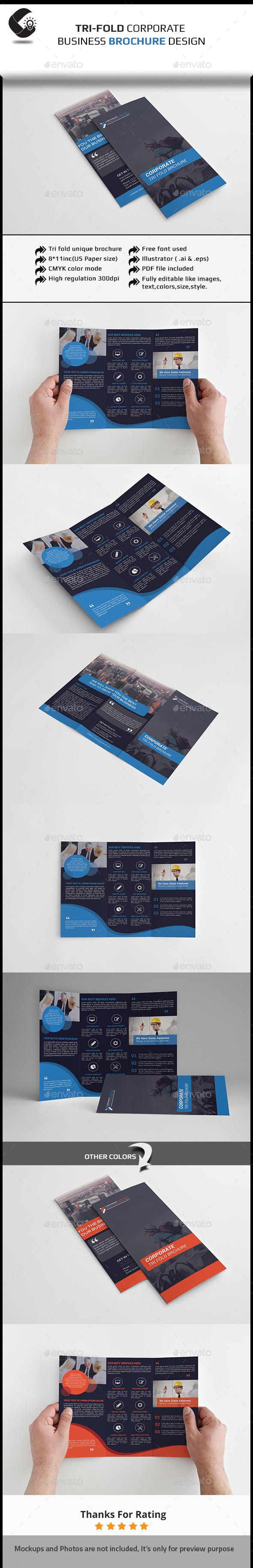 GraphicRiver Tri-Fold Corporate Brochure 11206187