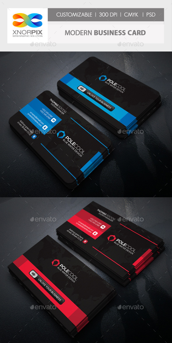 GraphicRiver Modern Business Card 11206196