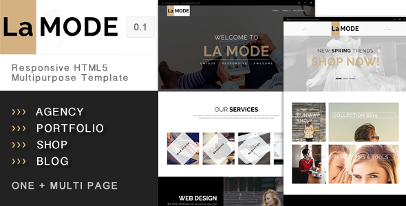 ThemeForest La Mode Responsive HTML5 Multipurpose Template 11179505