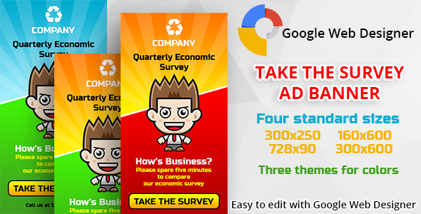 CodeCanyon Take The Survey Ad Banner 11179868