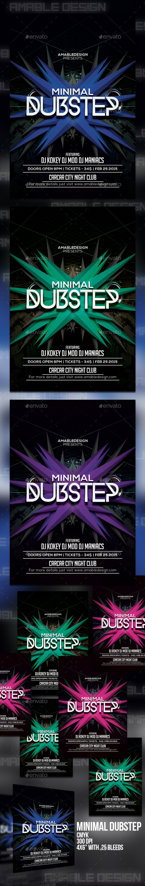 GraphicRiver Minimal Dubstep Flyer 11206335