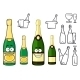 Champagne Bottles Cartoon Characters and Icons - GraphicRiver Item for Sale