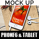 Phone6 and Tablet Kitchen Mock Up - GraphicRiver Item for Sale