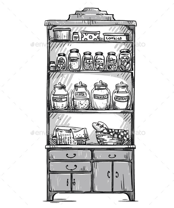 GraphicRiver Kitchen Cupboard and Shelves 11206790