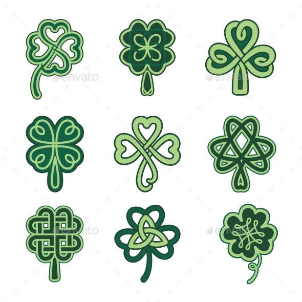 GraphicRiver Celtic Clovers 11206822
