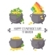 Pot with Gold Coin for St. Patrick's Day.  - GraphicRiver Item for Sale