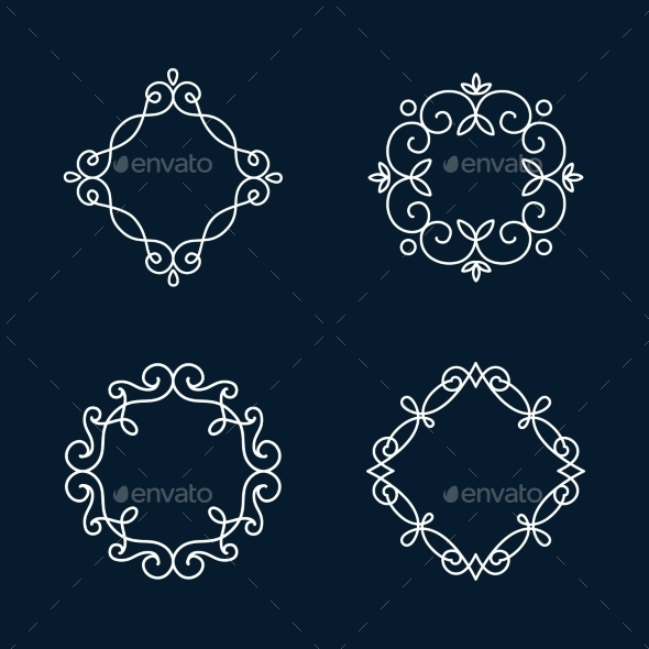 GraphicRiver Monogram Frames 11206836