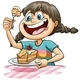 Girl Eating a Cake - GraphicRiver Item for Sale