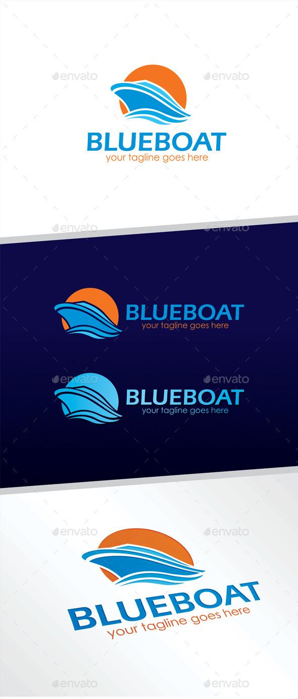 GraphicRiver Blue Boat Logo 11207030