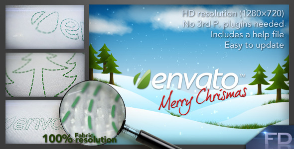 After Effects Project - VideoHive Christmas Fabric 1123537