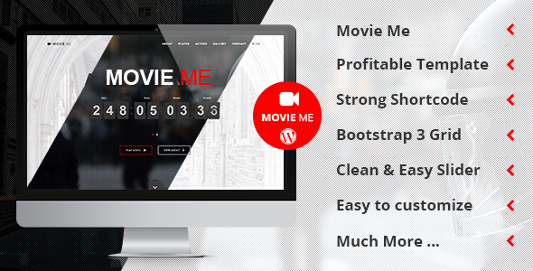 Movie Me - One Page Responsive WordPress Theme