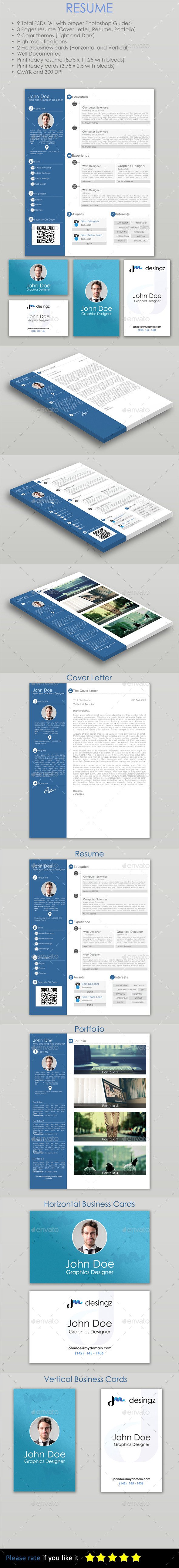 GraphicRiver Resume PSD Template 11136453