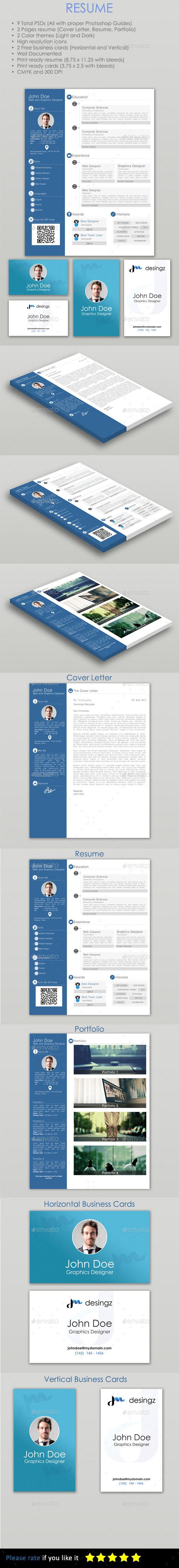Resume - PSD Template