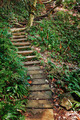 Old wooden staircase leading up a walkway - PhotoDune Item for Sale
