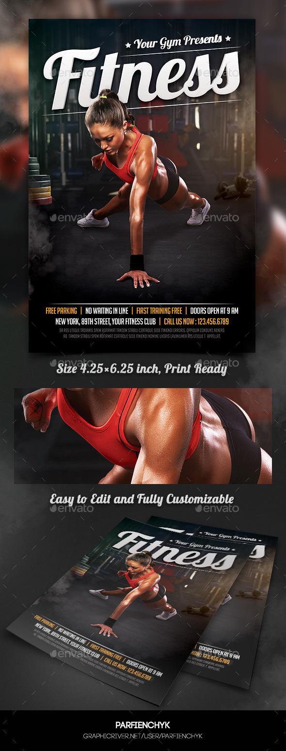 Fitness Sport Flyer Template
