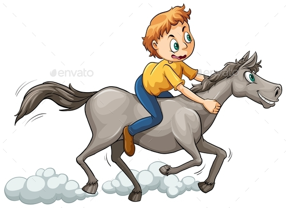 GraphicRiver Boy Riding a Horse 11207787