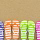 Multicolor sandals on beach - PhotoDune Item for Sale
