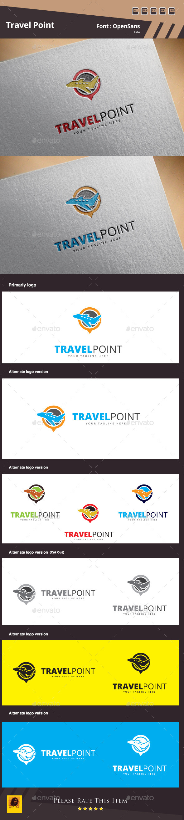 GraphicRiver Travel Point Logo Template 11208275