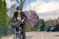 Businesswoman Commuting on a Cycle Going to Office - PhotoDune Item for Sale