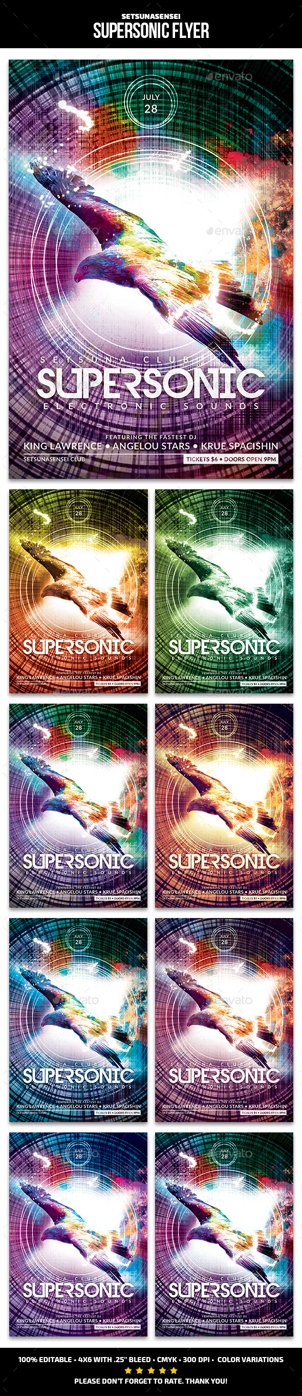 GraphicRiver Supersonic Flyer 11208491