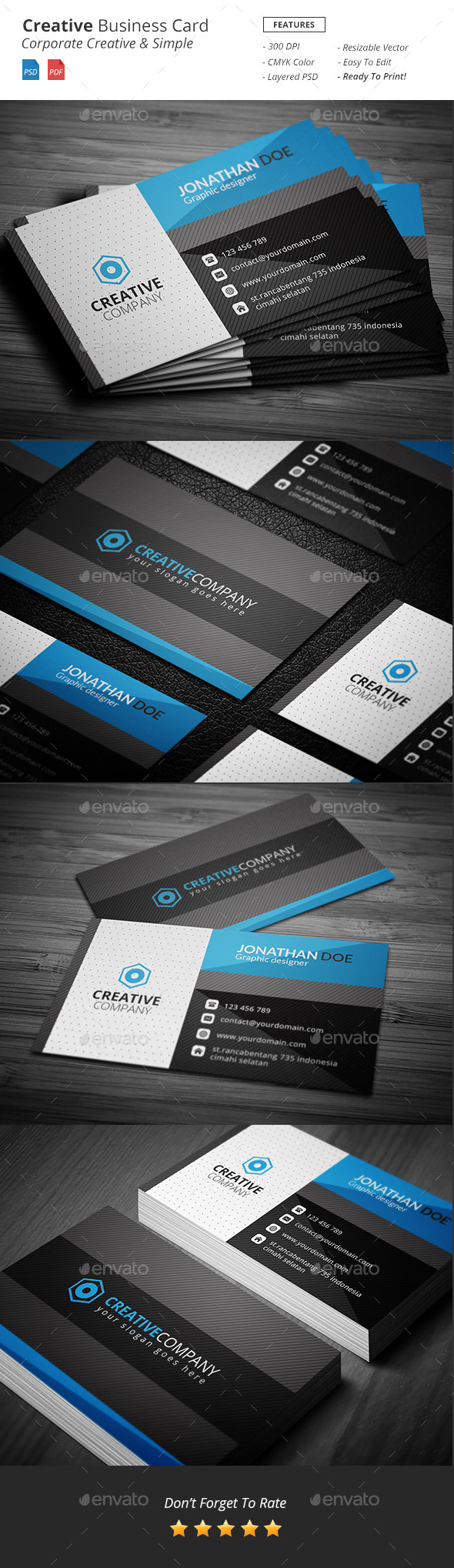 GraphicRiver Oplo Creative Business Card 11208499