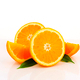 Studio shot of orange halves and wedges - PhotoDune Item for Sale