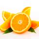 Cut orange fruit - half and wedges - PhotoDune Item for Sale