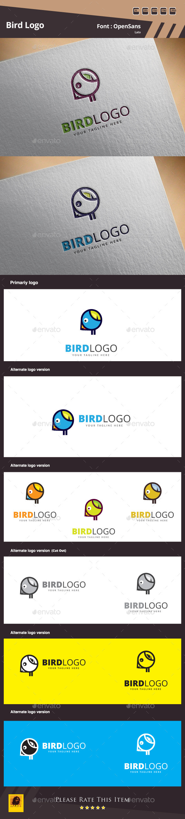 GraphicRiver Bird Logo Template 11111336
